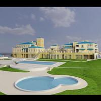 club facility 3d model
