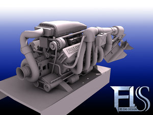 engine boat 3d model