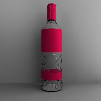 alcohol bottle dxf