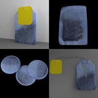 3d tea bag model