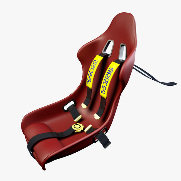 3d sport car seat racing model