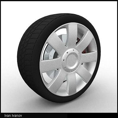 maya car wheel wheel01