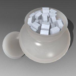 sugar bowl 3d dxf