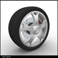 car wheel wheel02 3ds