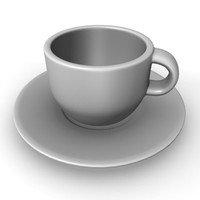 3d plate cup model