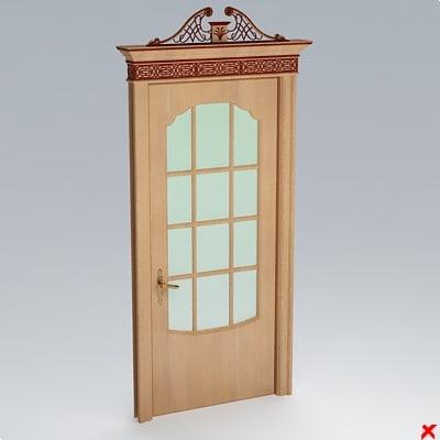 3d model of glass door