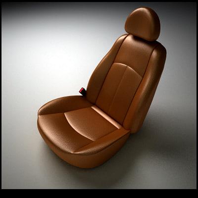3d Model Car Seats Wheels