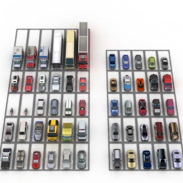 3d 55 cars