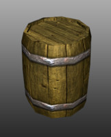 barrel games object 3d model