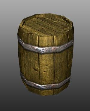 barrel games object 3d model