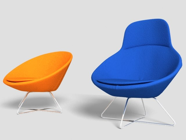 free modern chairs 3d model