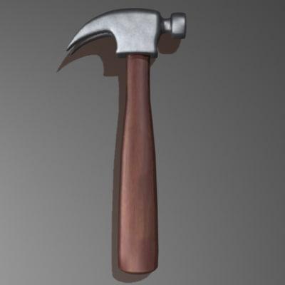 3d model hammer stylized