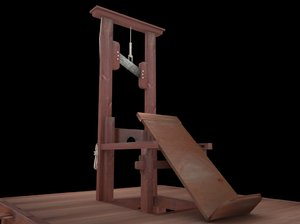 3d guillotine wooden