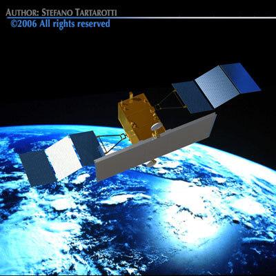 satellite radar 3d model