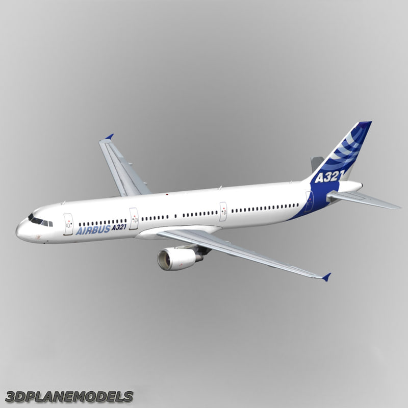 3d model airbus a321 house livery