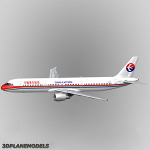 airbus a321 china eastern airlines 3d model