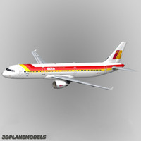 3d dxf airbus a321 iberia a-321