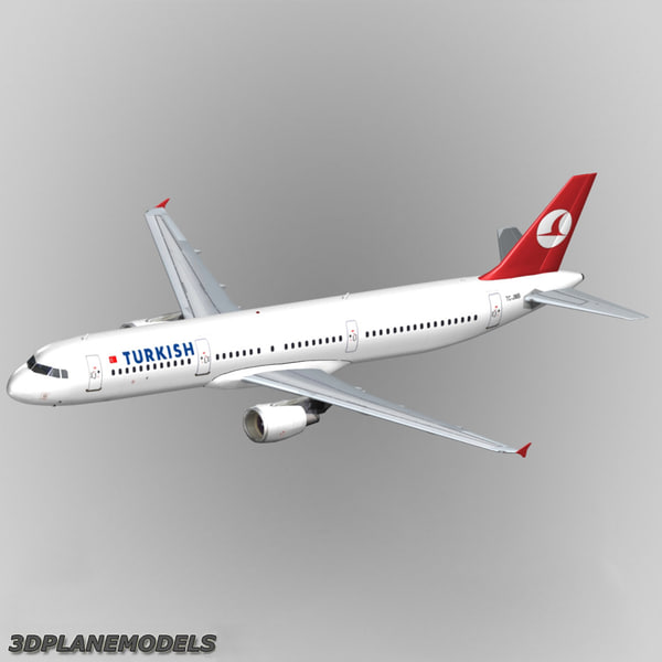 3d airbus a321 turkish airlines