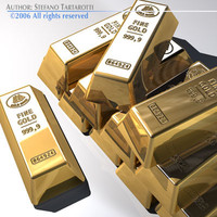 gold bars goldbar 3d model