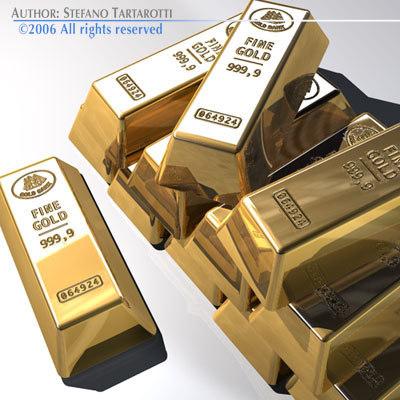 gold bars goldbar 3d model