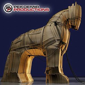 trojan horse 3d model