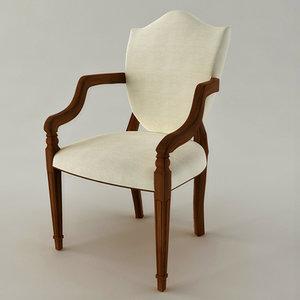 3dsmax shield chair