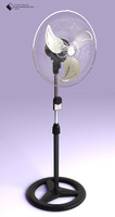 3d model fan stand