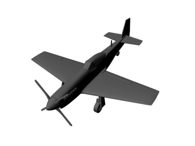 3d model p51d mustang plane