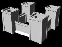 3d model starter castle