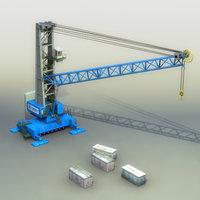 3d hmk300e harbour crane model