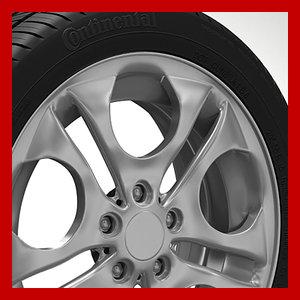 wheel rim tyre brembo brake 3d 3ds
