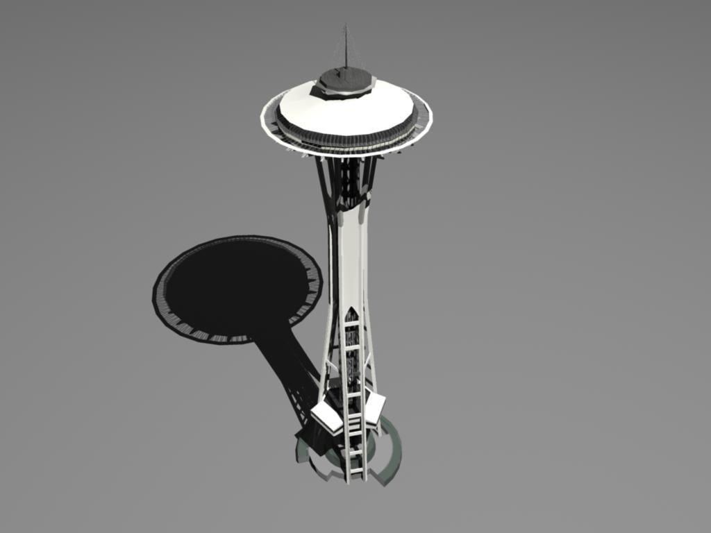 3d model seattle landmark
