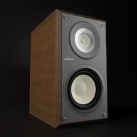 sony speaker 3d model