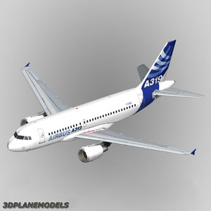 airbus a319 house livery 3d max
