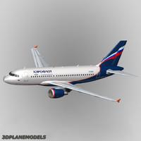 airbus a319 aeroflot a-319 3d model