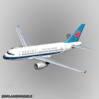 3d model airbus a319 china southern