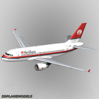 airbus a319 meridiana a-319 3d model