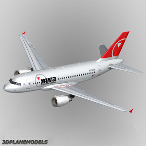 airbus a319 northwest airlines dxf