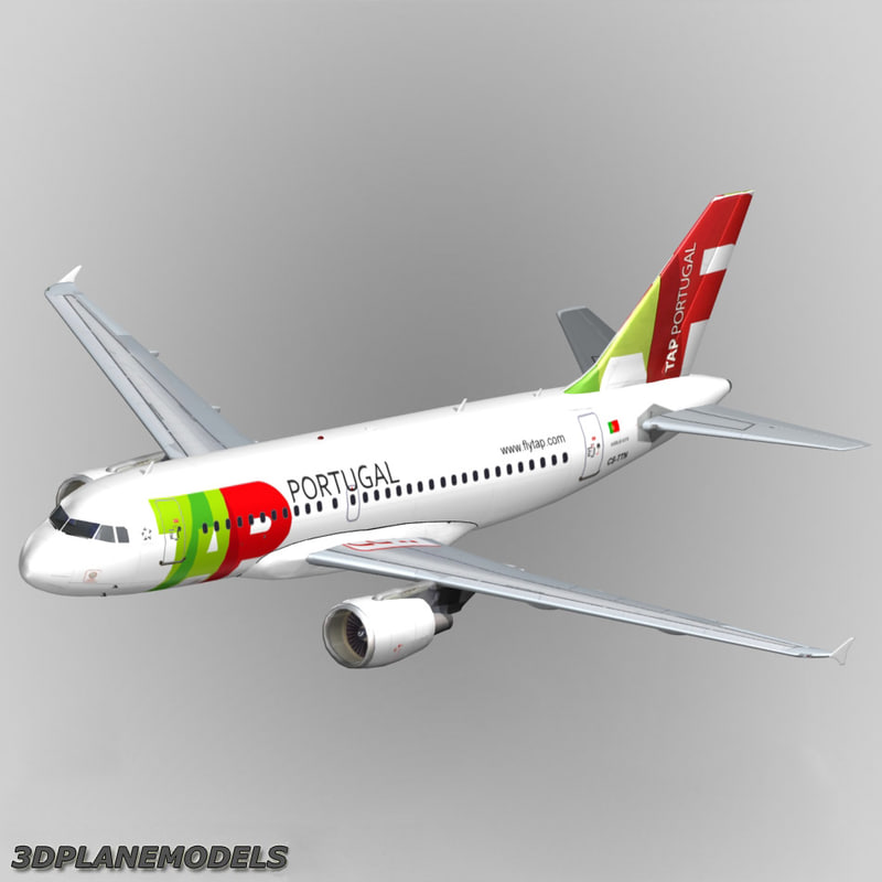 3d model airbus a319 tap portugal