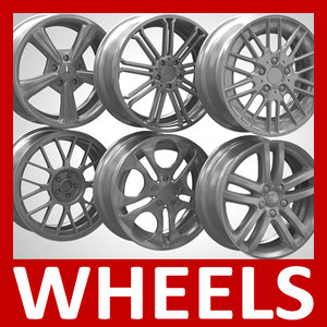 3ds max wheels rims tyres