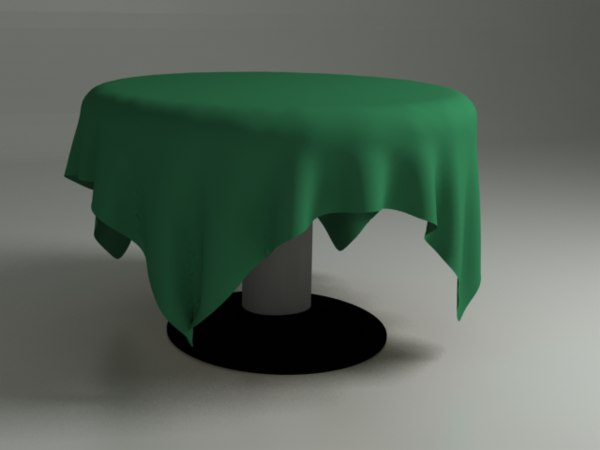 dining table soft fabric 3d model