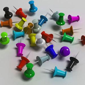 pushpin pin obj