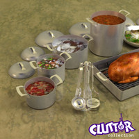 3ds professional cookware clutter utensils