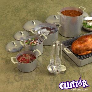 3ds professional cookware clutter utensils