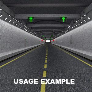 underground road 3d model