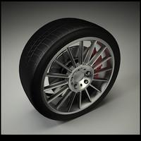 3d car wheel wheel07 model
