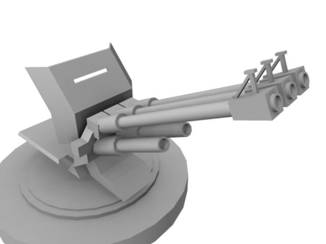 3d turret cannons