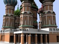 3ds max kremlin famous structures