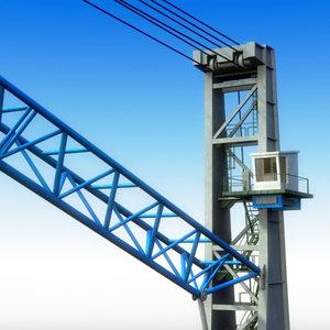 hmk300e harbour crane 3d model