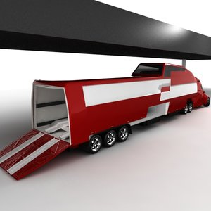 concept truck waggon 2009 3d model